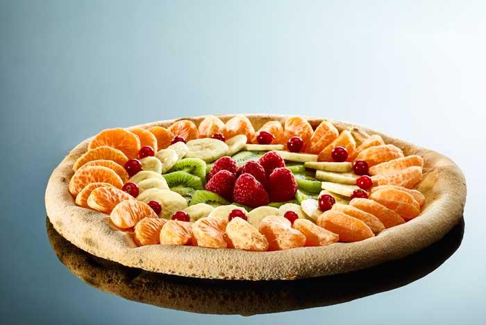 Pizza aux fruits par Grégory Edel pour Valmartin